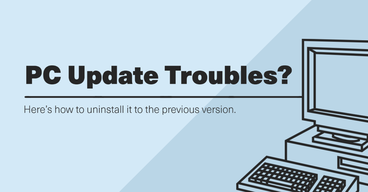 How to Uninstall Update